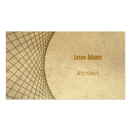 Brown Abstract Linear Modern Architect Business Cards