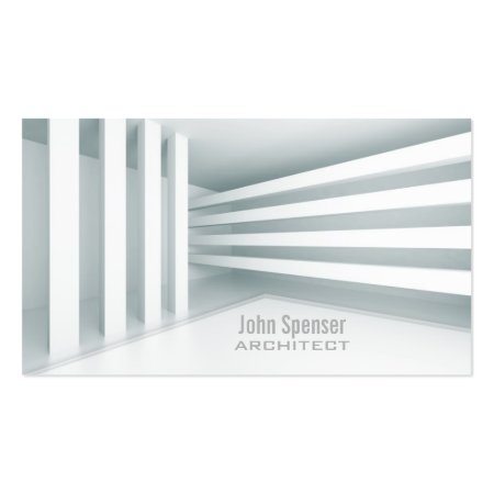 Sleek Gray Contemporary Architectual Design Architects Business Cards
