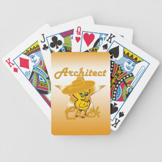 Architect Chick #10 Bicycle Playing Cards