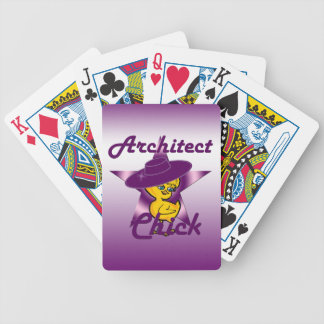Architect Chick #9 Bicycle Playing Cards