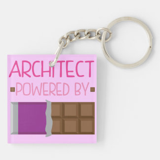 Architect Chocolate Gift for Woman Keychain