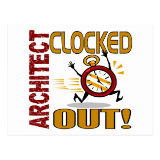 Architect Clocked Out Postcard