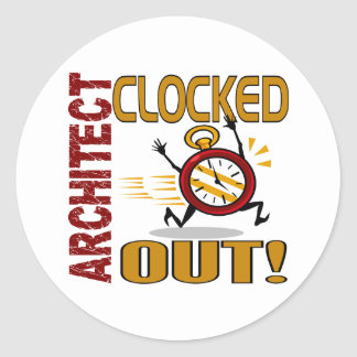 Architect Clocked Out Stickers