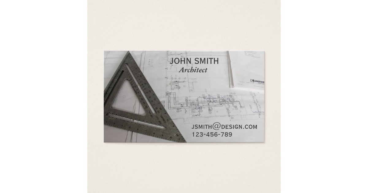Architect design freelance designer business card | Zazzle.com