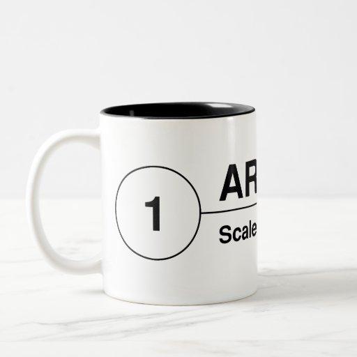 Architect Drawing Tag Mug
