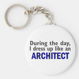 Architect During The Day Keychain