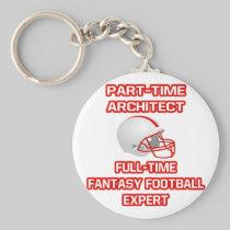 Architect .. Fantasy Football Expert Basic Round Button Keychain