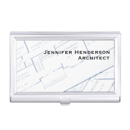 Architect Floor Plans Business Card Holders Zazzle
