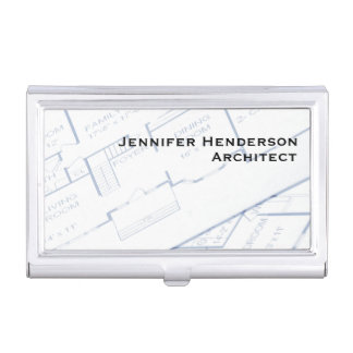 Architect, Floor Plans Case For Business Cards