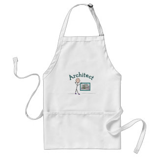 Architect Gifts--Stick Person Design Adult Apron