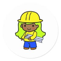 Architect Girl 1 Sticker