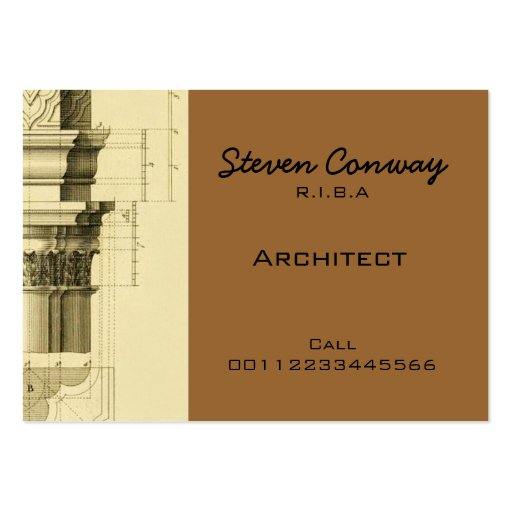 Architect ~ Gothic Architecture Design Business Card Template
