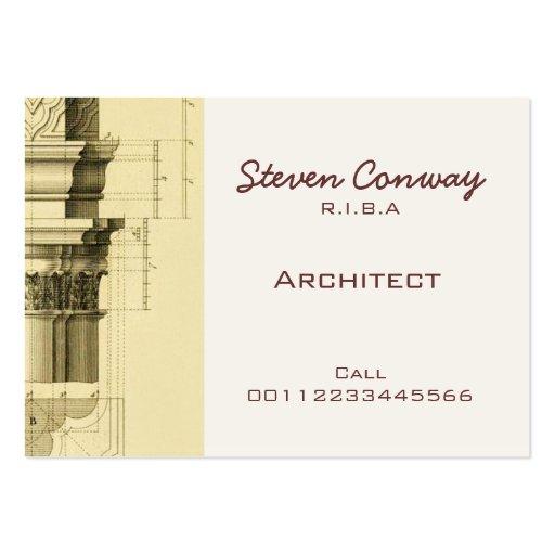 Architect Gothic Architecture Design Business Card Template Zazzle