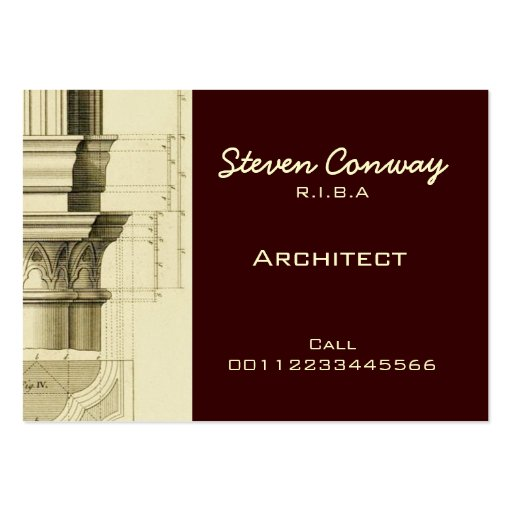 Architect ~ Gothic Architecture Design Business Card