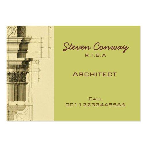 Architect ~ Gothic Architecture Design Large Business Card