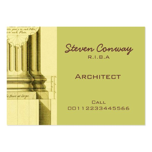 Architect gothic architecture design large business card for Tianhua architecture design company