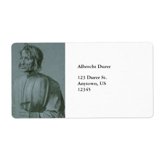 Architect Hieronymus von Augsburg by Durer Label