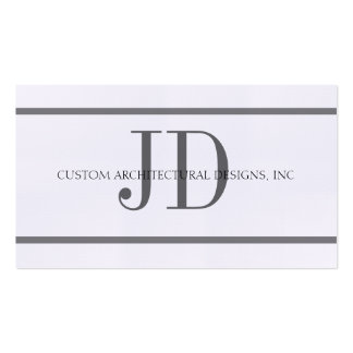 Architect HorizStripe W/W - Available Letterhead - Double-Sided Standard Business Cards (Pack Of 100)