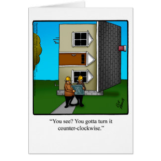 Architect Humor Greeting Card