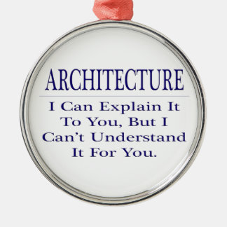 Architect Joke .. Explain Not Understand Metal Ornament