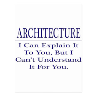 Architect Joke .. Explain Not Understand Postcard
