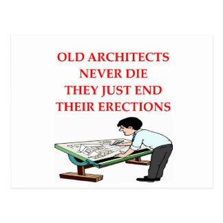 ARCHITECT joke Postcard