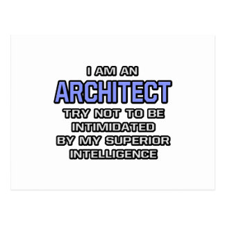 Architect Joke ... Superior Intelligence Postcard