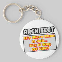 Architect...More Than Job, Way of Life Basic Round Button Keychain