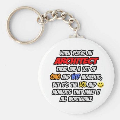 Architect .. OMG WTF LOL Key Chains