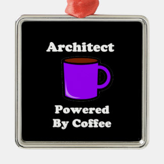 """Architect"" Powered by Coffee Metal Ornament"