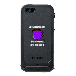 """Architect"" Powered by Coffee Waterproof Case For iPhone SE/5/5s"