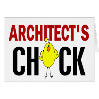 Architect's Chick Greeting Card