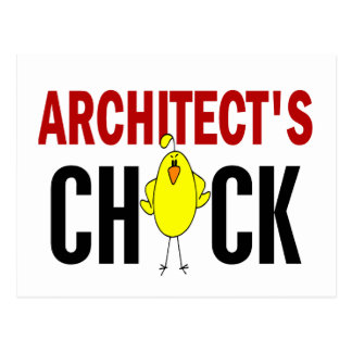 Architect's Chick Post Card