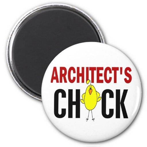Architect's Chick Refrigerator Magnet