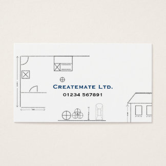 Architect Sketch Business Card