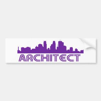 Architect Skyline design! Car Bumper Sticker