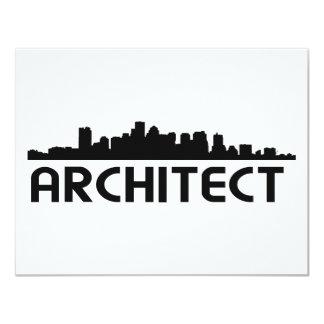 Architect Skyline design! 4.25x5.5 Paper Invitation Card