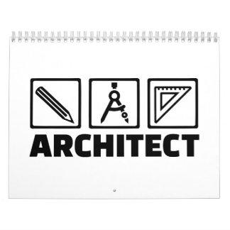 Architect tools compass wall calendars