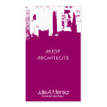 Architect Upside Downtown Skyline Double-Sided Standard Business Cards (Pack Of 100)