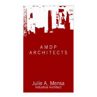 Architect Upside Downtown Skyline Business Card Template