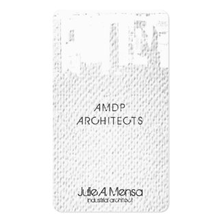 Architect Upside Downtown Skyline Textured Look Business Card