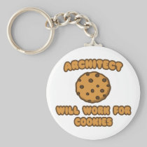 Architect .. Will Work for Cookies Basic Round Button Keychain