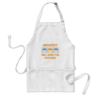 Architect ... Will Work For Cupcakes Adult Apron