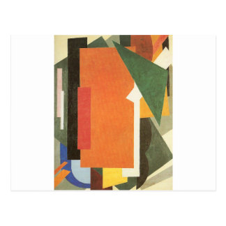 Architectonics in Painting by Lyubov Popova Postcard