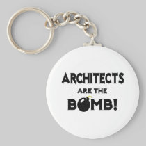 Architects Are The Bomb! Basic Round Button Keychain