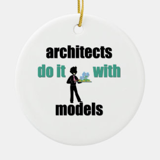 architects do it with models christmas tree ornament