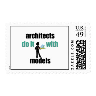 architects do it with models postage stamps