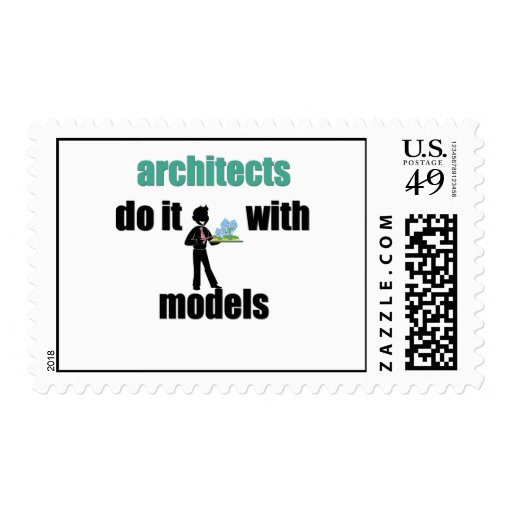 architects do it with models postage stamp