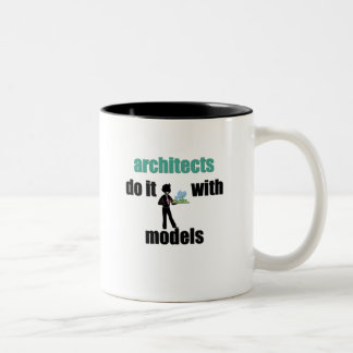 architects do it with models Two-Tone coffee mug