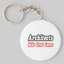 Architects Make Great Lovers Basic Round Button Keychain